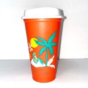 Starbucks summer 2020 orange palm tree hot cup